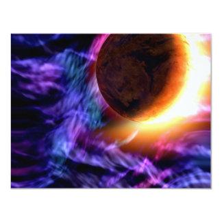 Sci-Fi Space Scene 4.25x5.5 Paper Invitation Card