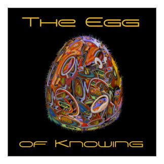 Sci Fi Surreal The Egg of Knowing Poster