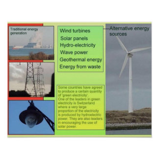 Science, Alternative sources of Energy Print