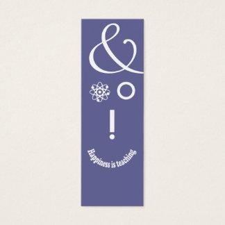 Science Ampersand Education Teacher Geek Face Mini Business Card