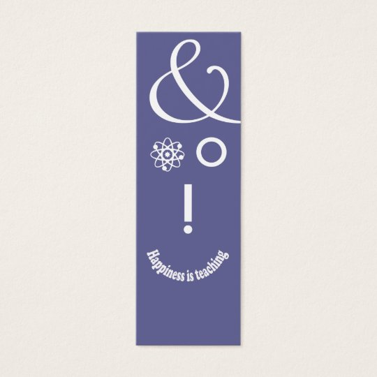 Science Ampersand Education Teacher Geek Face Mini Business Card