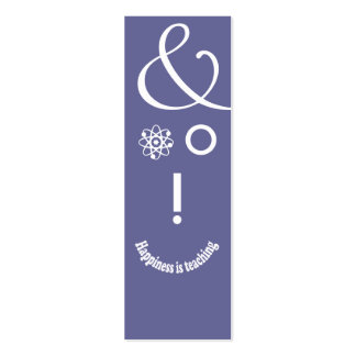 Science Ampersand Education Teacher Geek Face Pack Of Skinny Business Cards