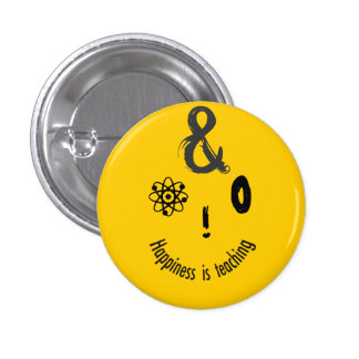 Science Ampersand Techie Humorous Teachers Design 3 Cm Round Badge