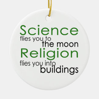 Science and religion christmas ornament