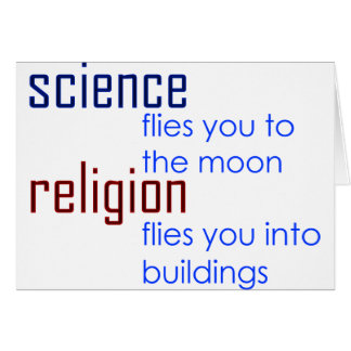 science and religion greeting card