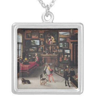 Science and the Arts Silver Plated Necklace