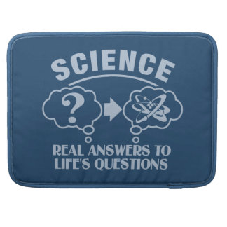 "Science Answers custom 15"" MacBook sleeve"