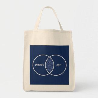 Science / Art Venn Diagram Canvas Bags