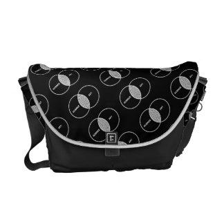Science / Art Venn Diagram Messenger Bags