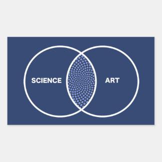 Science / Art Venn Diagram Rectangular Sticker