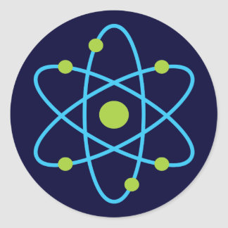 Science Atom Round Sticker
