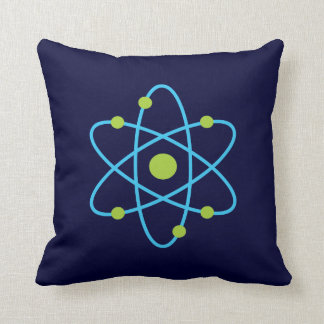 Science Atom Throw Cushions