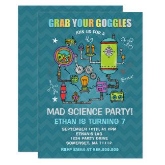 Science Birthday Invitation Mad Science Party