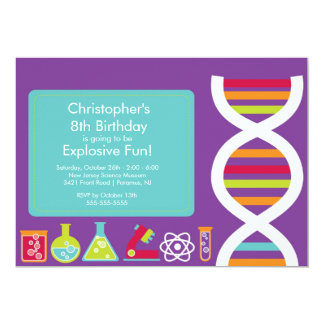 Science Birthday Party Invitation