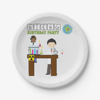Science Birthday Party Kids Paper Plate