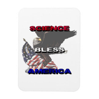 Science Bless America American Flag And Bald Eagle Rectangular Photo Magnet
