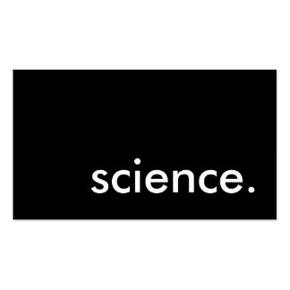science. pack of standard business cards