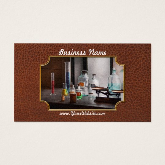 Science - Chemist - Chemistry Equipment Business Card