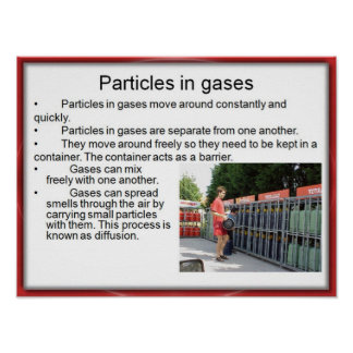 Science, Chemistry, Particles in gases Poster