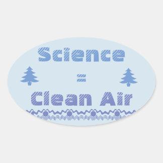 Science = Clean Air Sticker