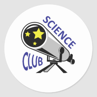 SCIENCE CLUB ROUND STICKERS