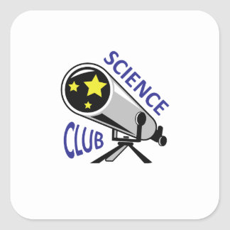 SCIENCE CLUB SQUARE STICKERS