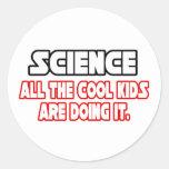 Science...Cool Kids Round Sticker