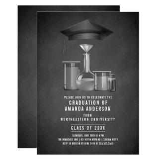 Science Degree Graduation Party Invitation