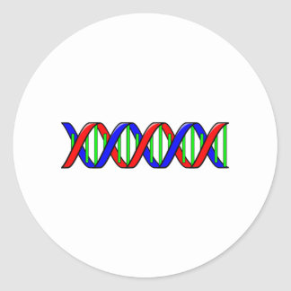 Science DNA Strand Classic Round Sticker