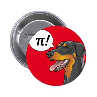 Science Dog Pi Doberman Great for Teachers button