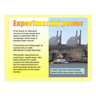 Science, Electricity Experimental power Postcard