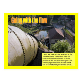 Science, Energy, Electricity, going with the flow Postcard