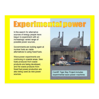 Science, Energy, Experimental power Postcard