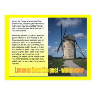 Science, Energy, Lessons from the past Postcard
