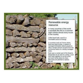 Science Energy renewable resources wood Postcards