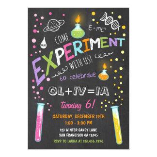 Science Experiment Birthday Invitation Girl