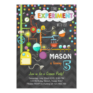 Science Experiment Birthday Party Invitation