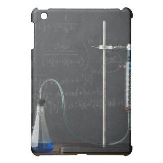 Science experiment in front of blackboard iPad mini case