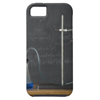Science experiment in front of blackboard iPhone 5 cover