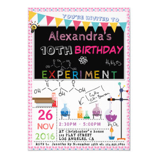SCIENCE EXPERIMENT LABORATORY PARTY INVITATION |