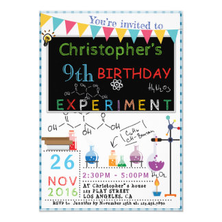 SCIENCE EXPERIMENT LABORATORY PARTY INVITATION