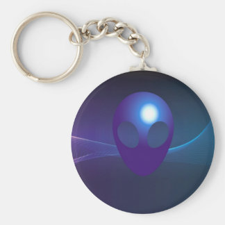 science fiction basic round button key ring