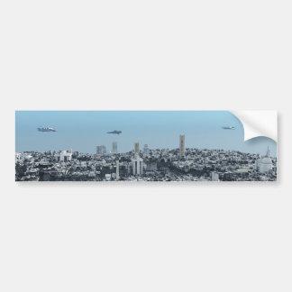 Science Fiction Cityscape Bumper Sticker