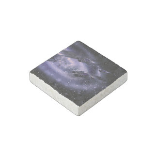 Science Fiction Spaceship Stone Magnet