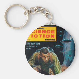 Science Fiction Stories - 1958.09_Pulp Art Basic Round Button Key Ring