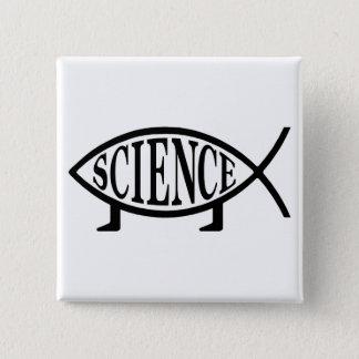 Science Fish 15 Cm Square Badge