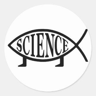 Science Fish Round Sticker