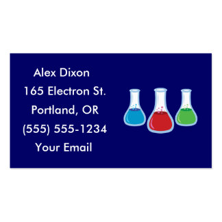 Science Flask Business Cards