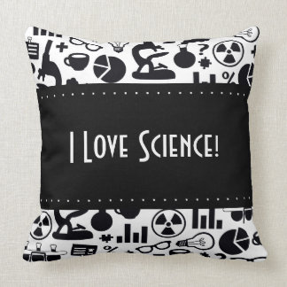 Science for Scientist Pattern (Black and White) Cushion
