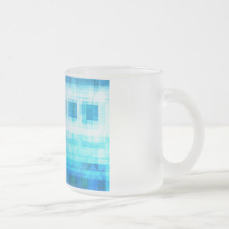 Science Futuristic Internet Computer Technology Frosted Glass Mug
